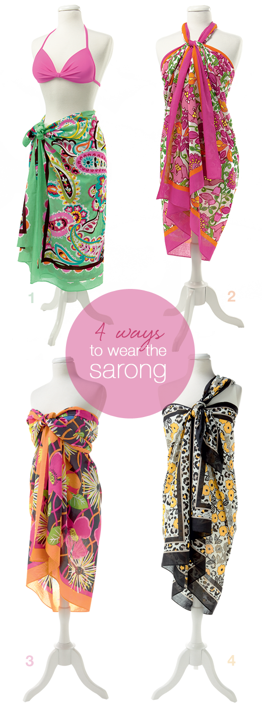 Sarong clip wrap. Way tie ways