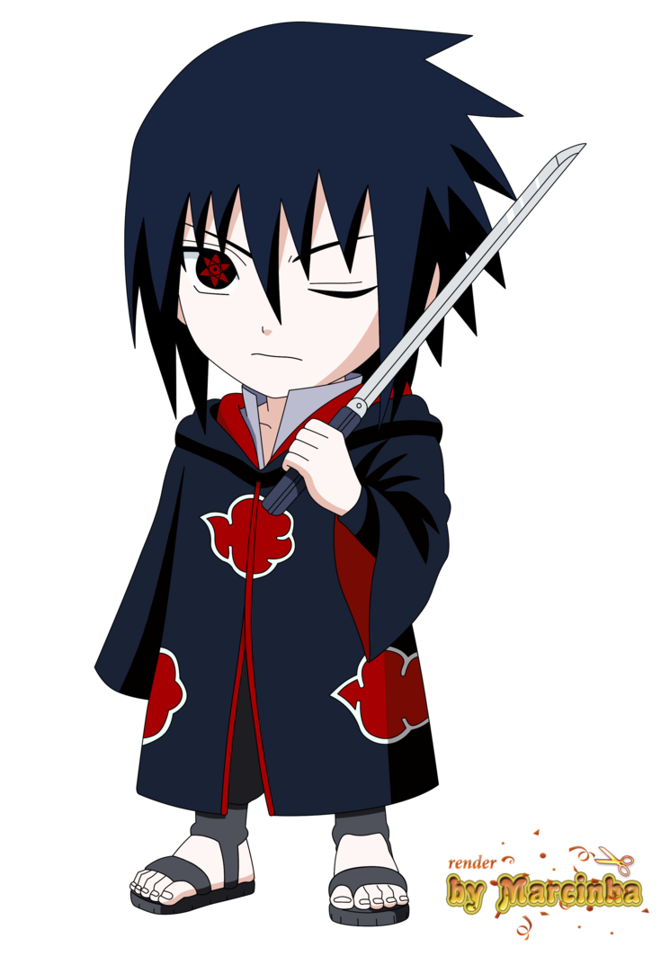 Akatsuki drawing chibi. Render sasuke by marcinha