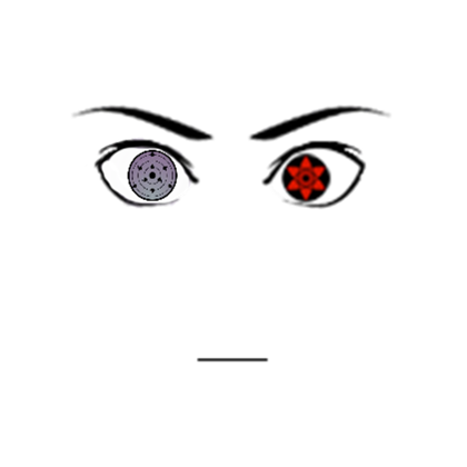 Sasuke rinnegan face decal png. Sharin ms roblox