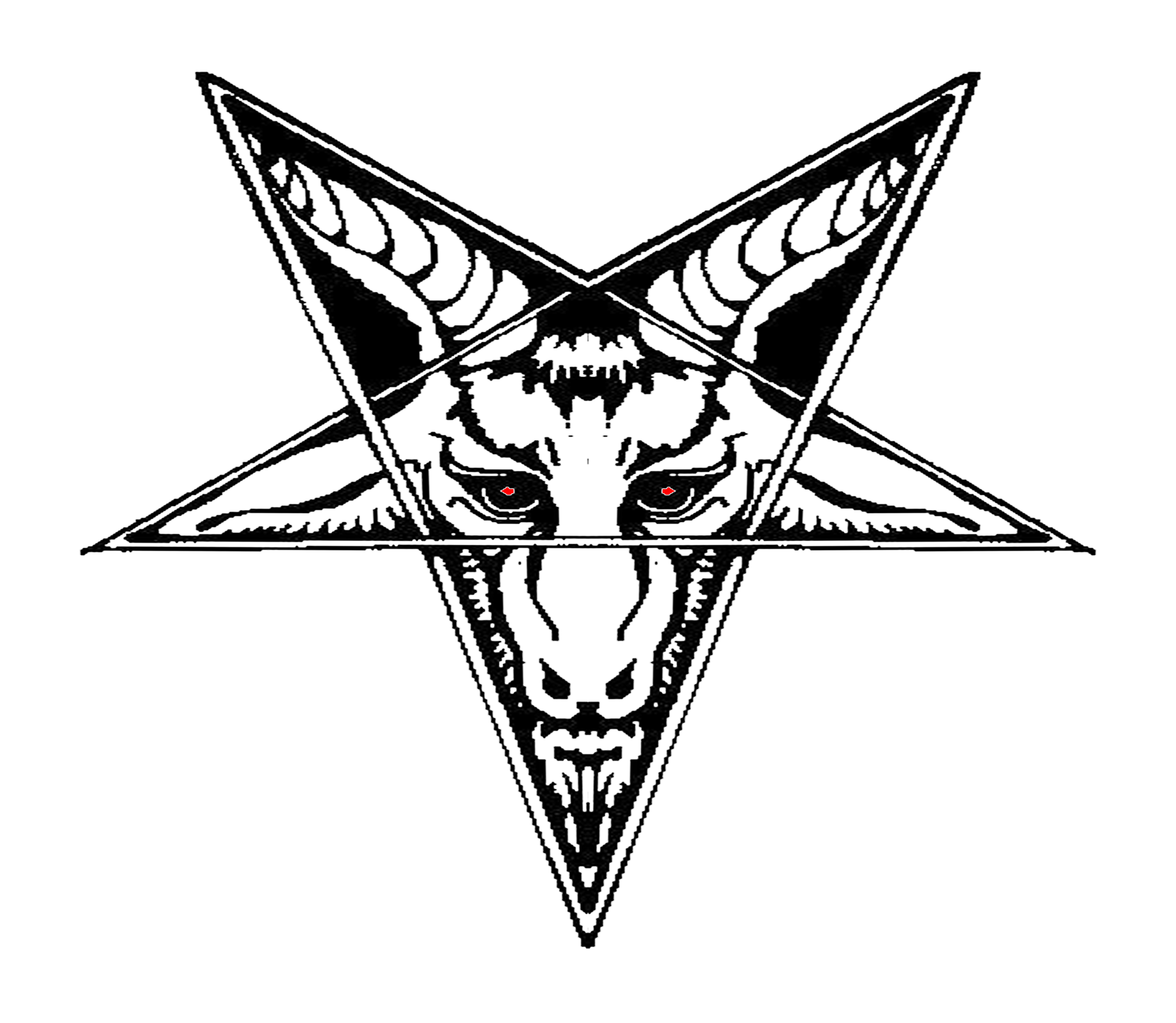 Satanic goat png. Lucifer the witch baphomet