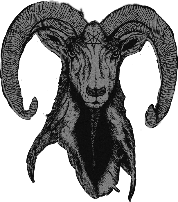 Satanic goat png. Kawaii tumblr sticker by