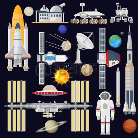 Satellite clipart space technology. Best rocket images