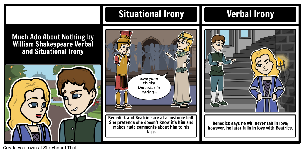 Satire drawing i m. Types of irony