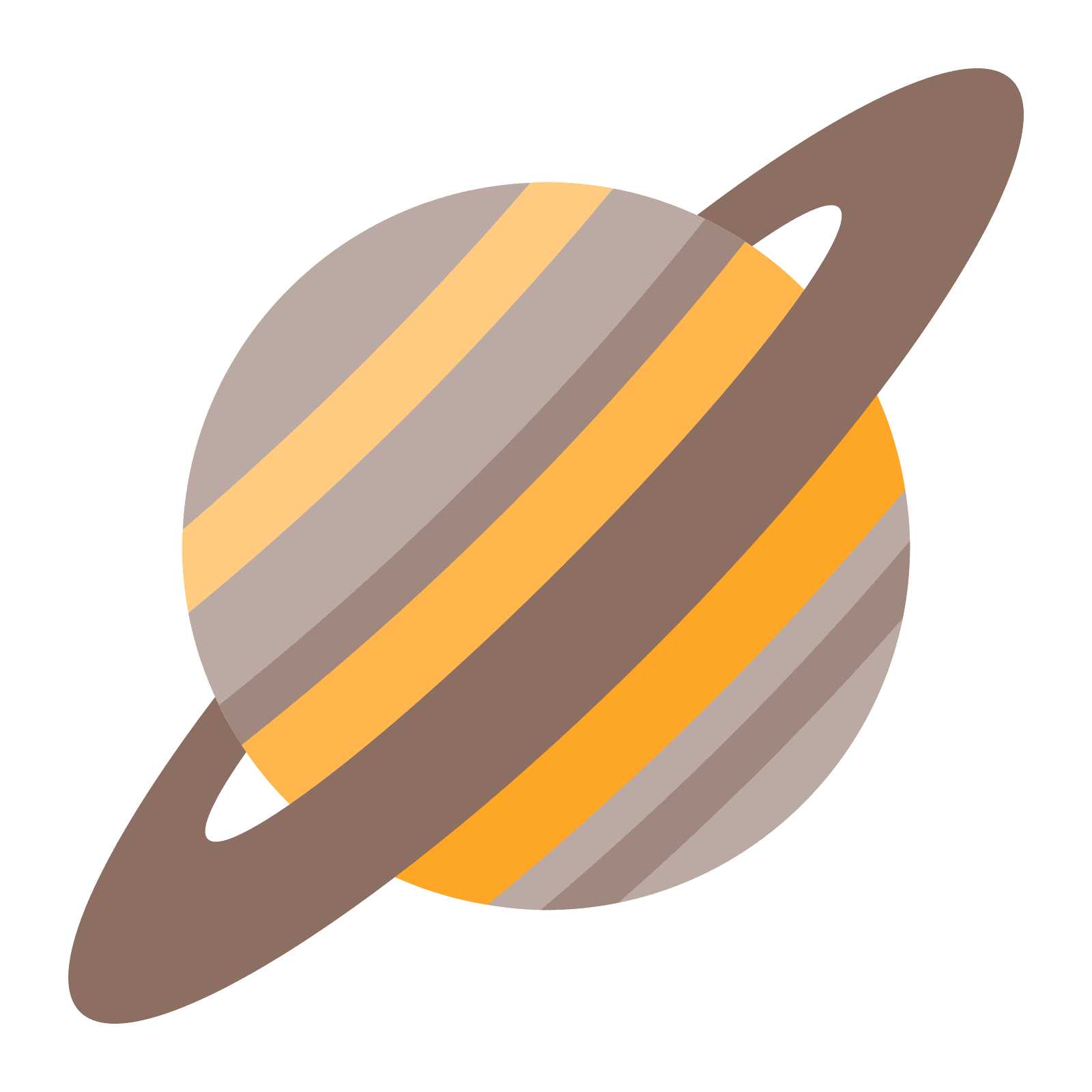 Transparent saturn color. Planet icon free download