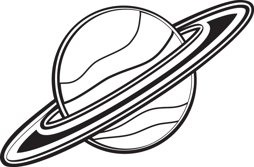 saturn png black and white