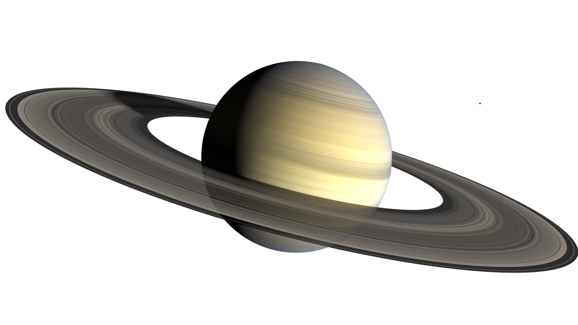 Saturn transparent png. A blender model of
