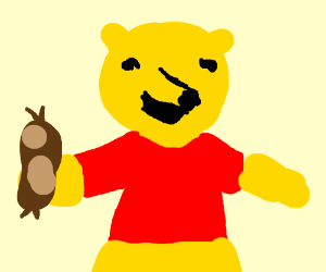 Sausage clipart winnie. Pooh bear the with