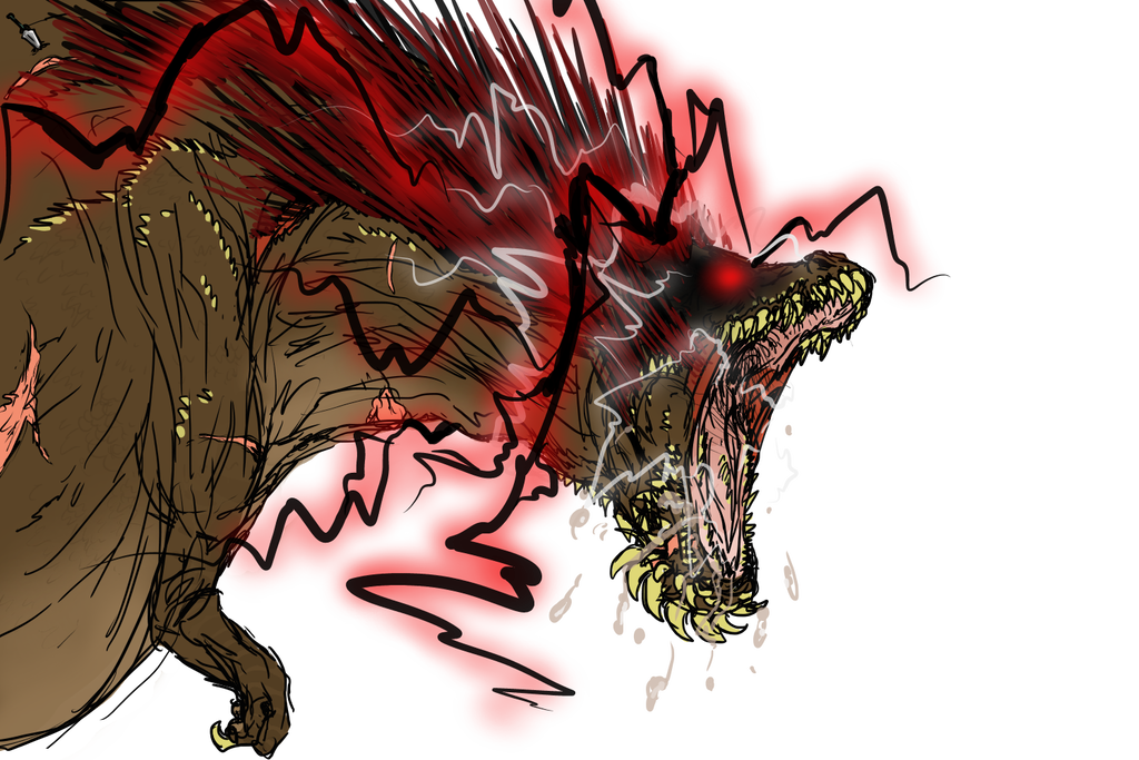 Savage drawing art. Deviljho consume by desolatemars