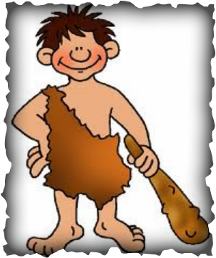 Cave clipart stone age cave. Hunter savage cute borders