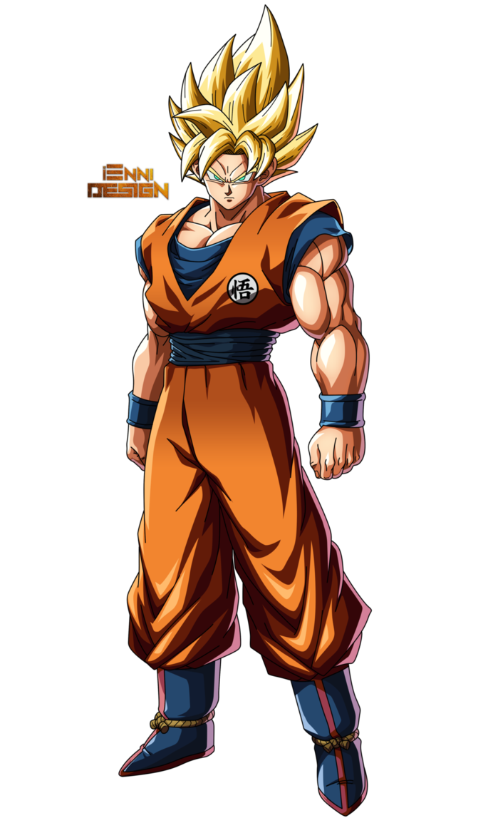 Drawing cowboys dragon ball z. Goku ssj by iennidesign