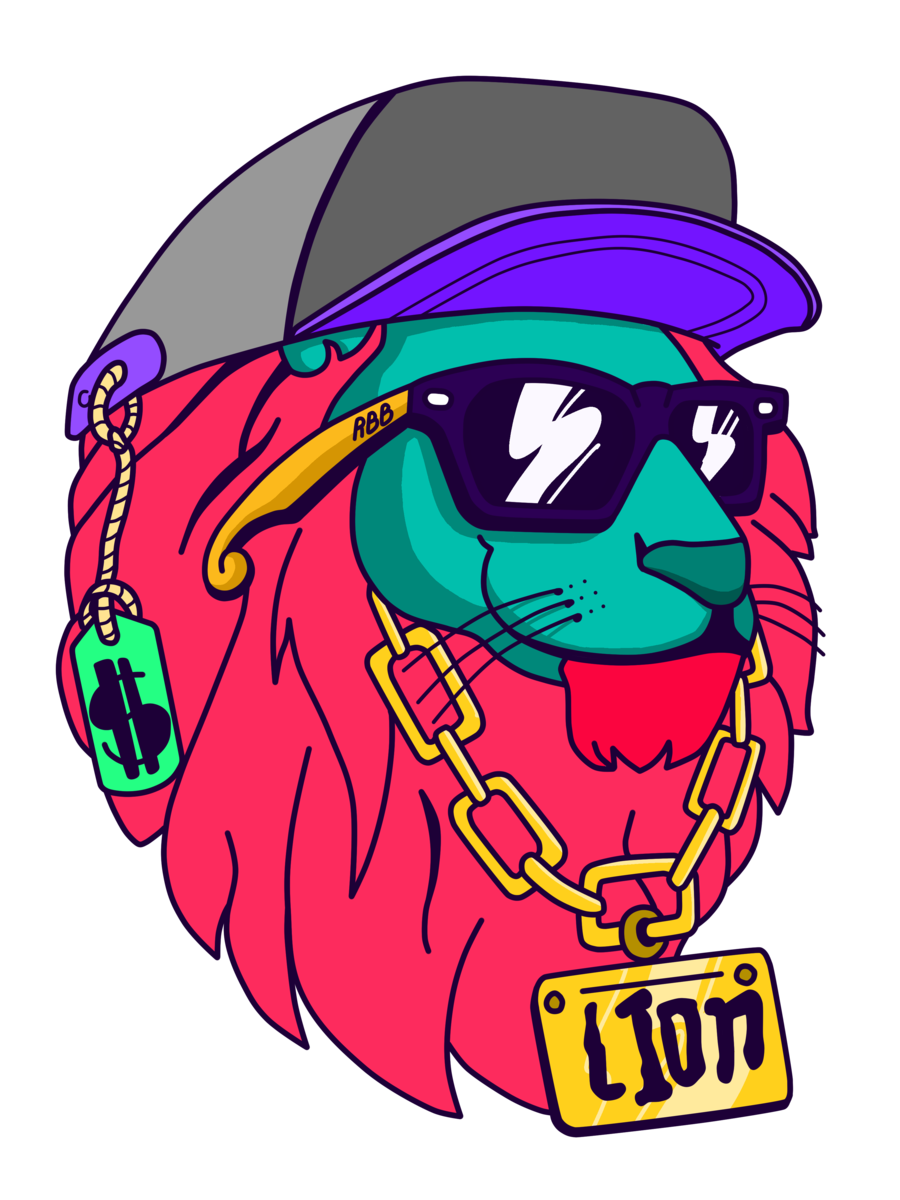 Savage drawing graffiti. Young lion swag by