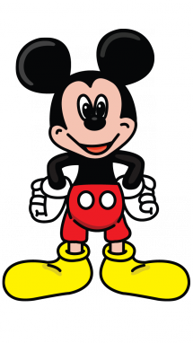 Savage drawing mickey mouse. How to draw step
