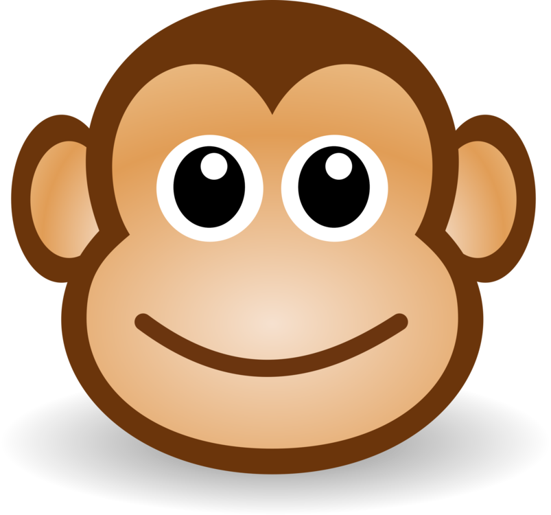 Savage drawing monkey. Ape cartoon download free