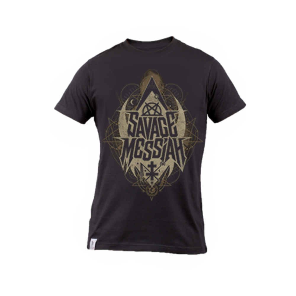 Savage transparent t shirt. E messiah logo