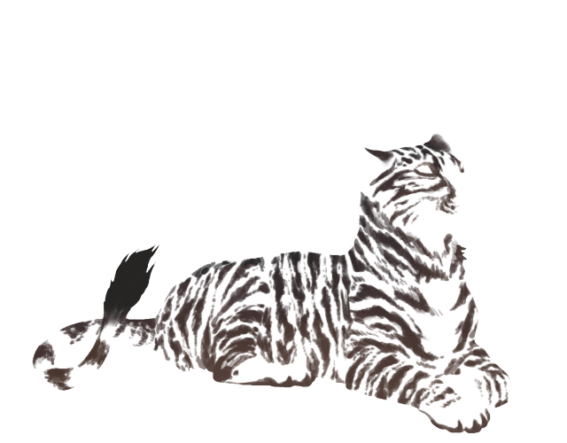 Savage drawing tiger. Lion page lioden