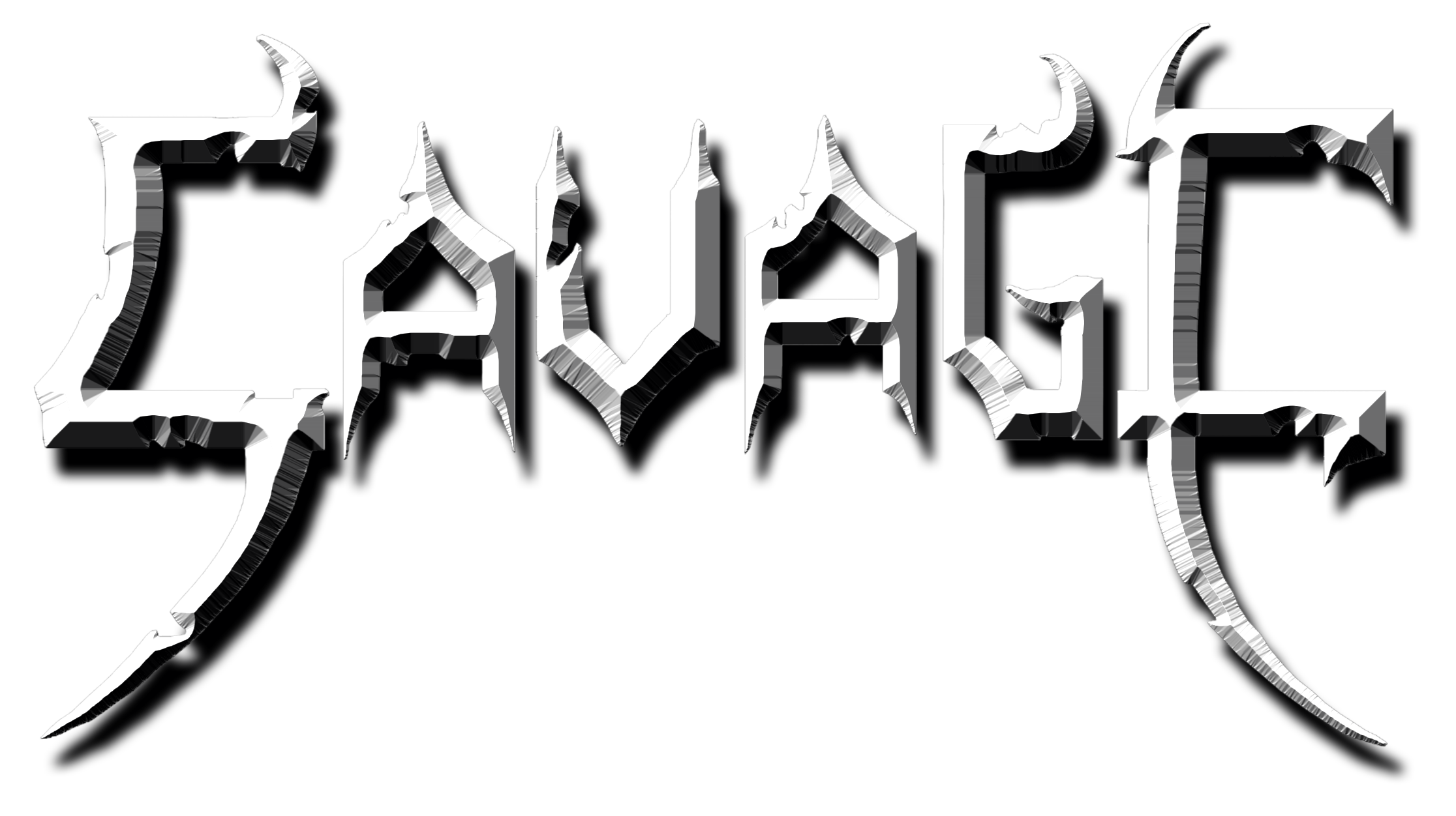savage transparent different font