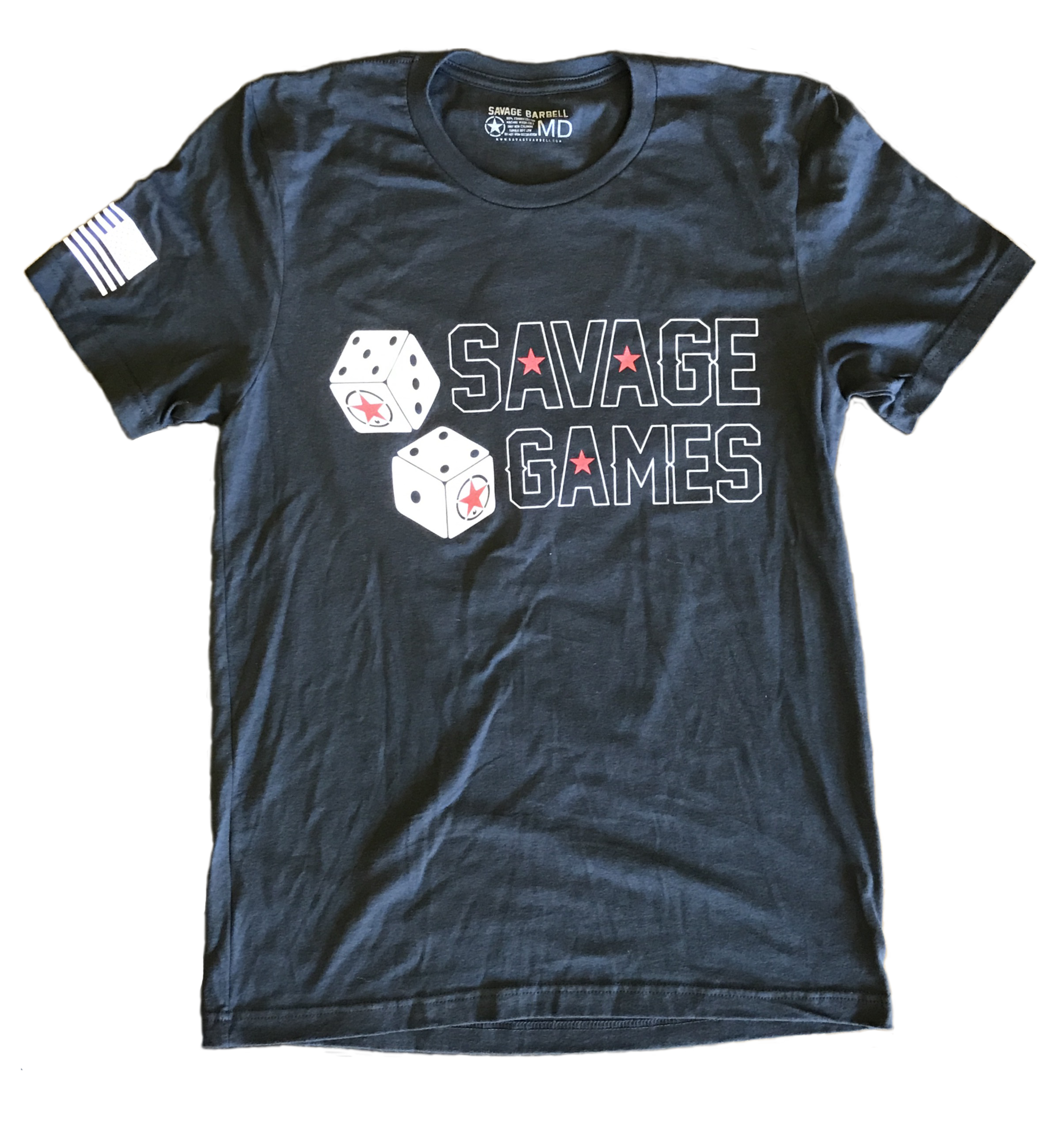 Savage transparent t shirt. Mens games barbell