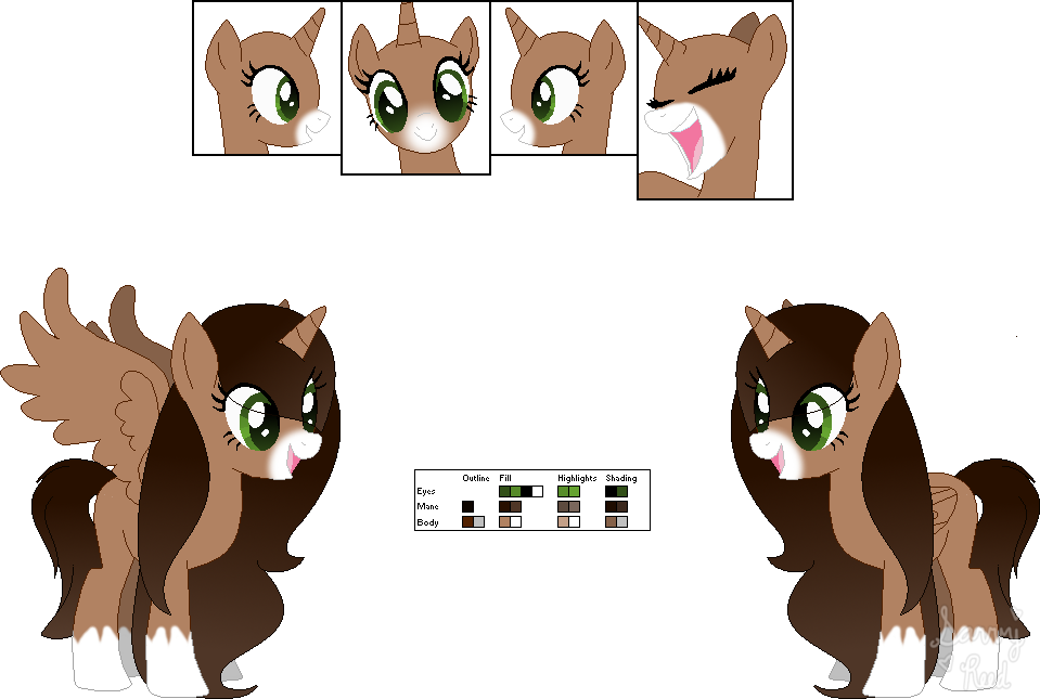 Savannah drawing animal. Reed pony ref by