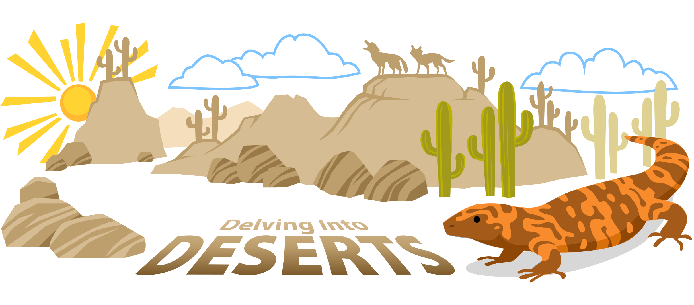 Savannah drawing desert. Biome ask a biologist