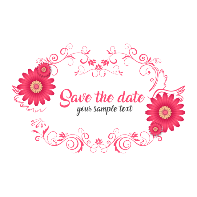 Watercolor wedding png. Save the date floral