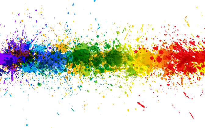 Transparent rainbow line projects. Color splash background png picture black and white library