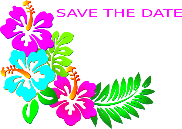 Save the date clipart. Luau clip art at