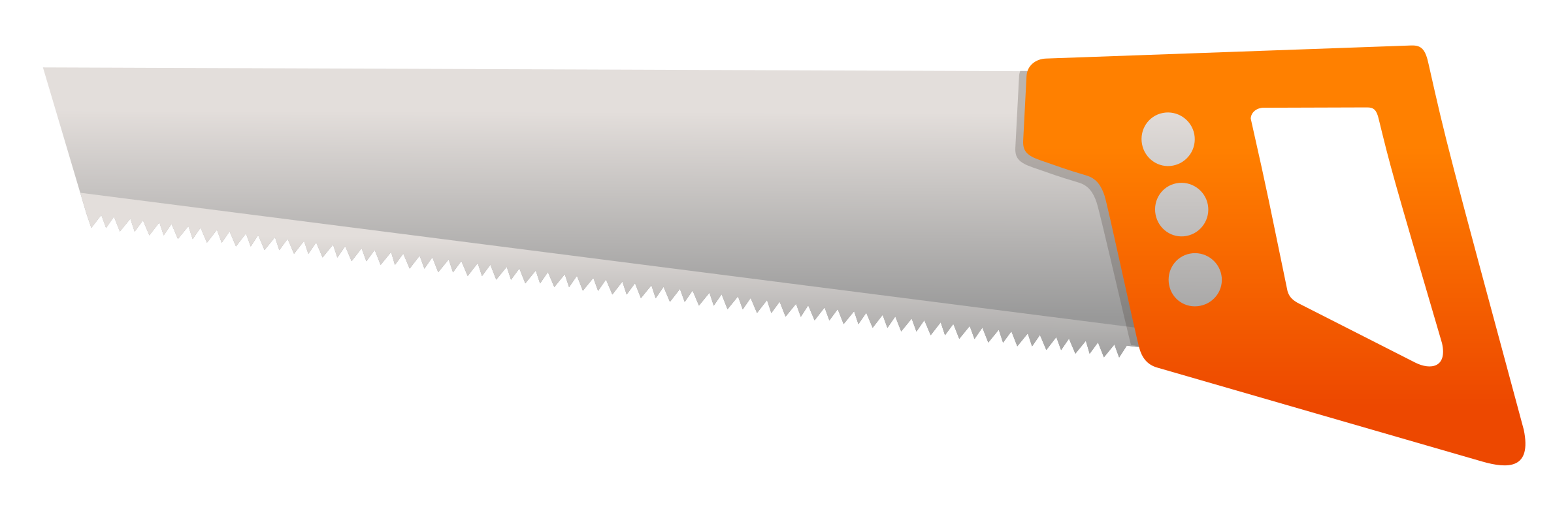 Blade vector hand saw. Clipart big image png