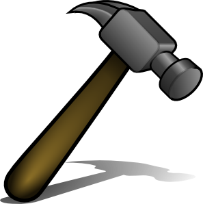 Home clipart home improvement. Hammer clip art at