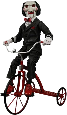 Saw clown png. Puppet on tricycle jigsaw
