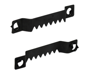 Sawtooth clip hangers. Cassese self fastening with