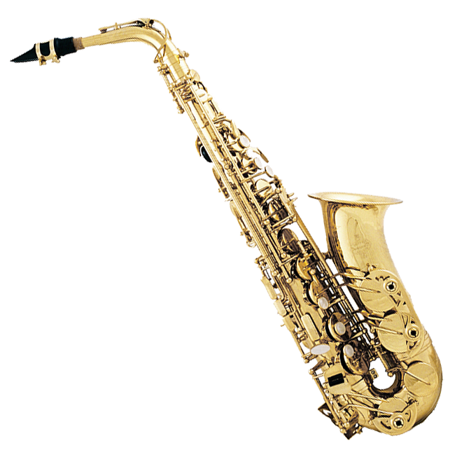 Saxaphone drawing band instrument. Oxford student saxophone