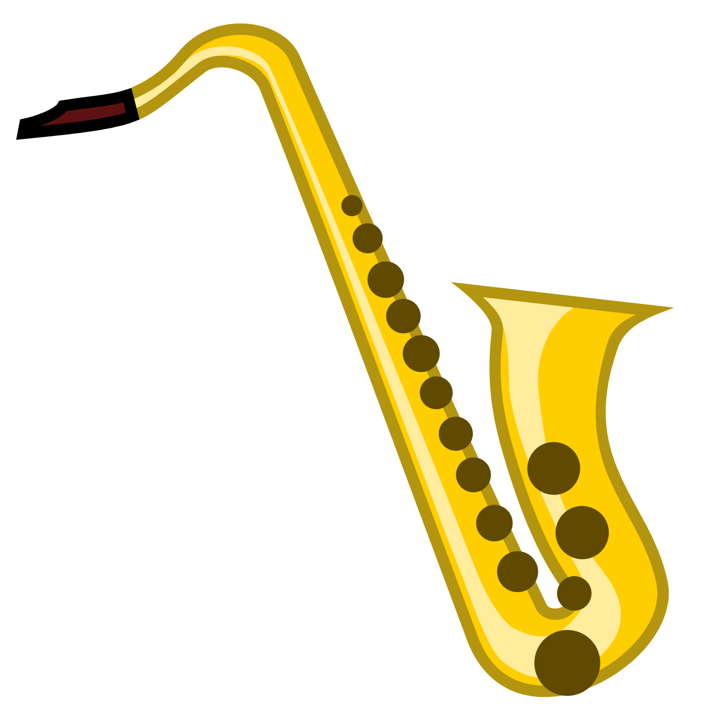 Saxaphone drawing blues instrument. Unprotected sax the best