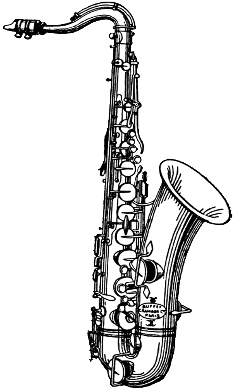 Saxaphone drawing realistic. Sax at getdrawings com