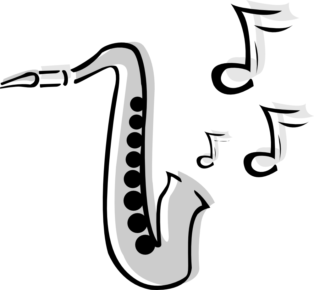 Saxaphone drawing tattoo. Images for alto saxophone