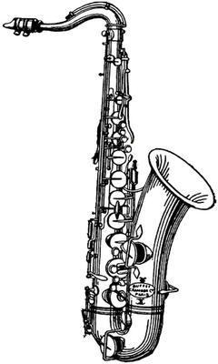 saxaphone drawing flute