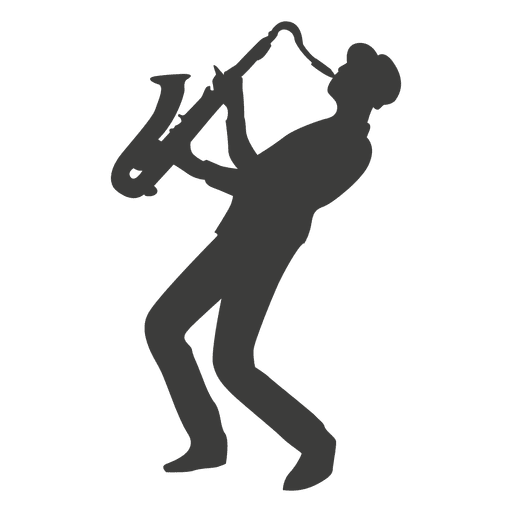 Saxophone silhouette png. Player transparent svg vector