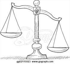 Scale clipart paralegal. Scales of justice pattern