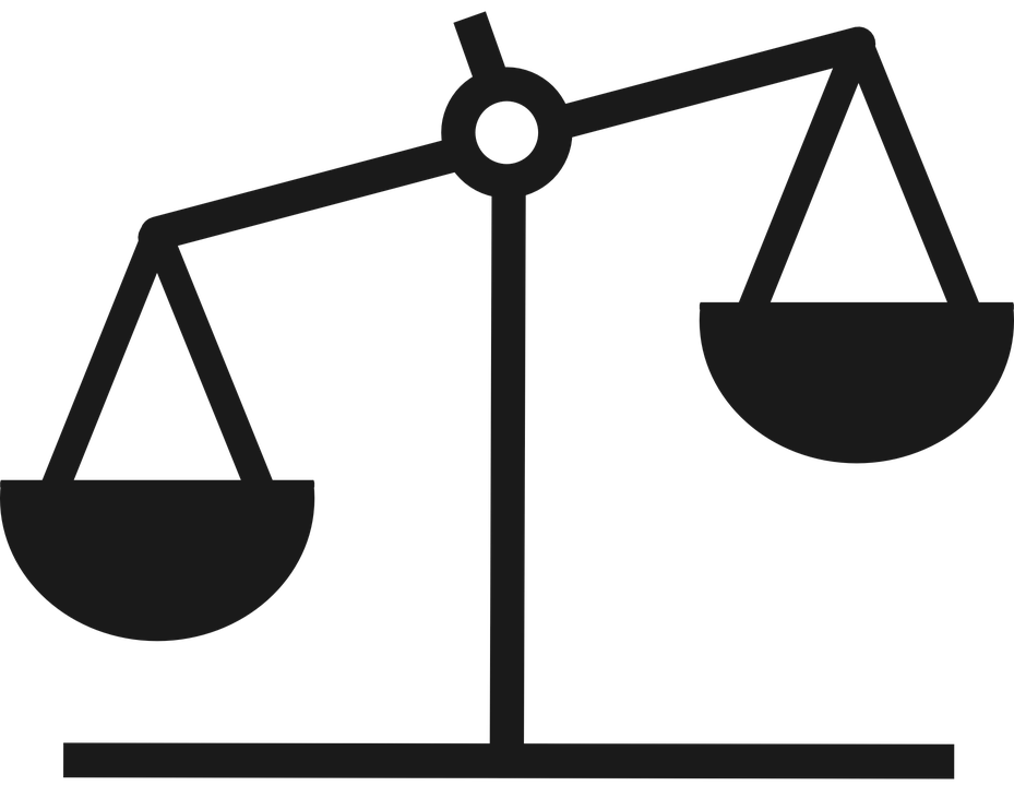 Scales clipart unequal. Scale black and white