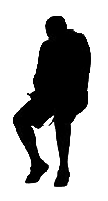 Scale figure silhouette png. Man sitting architecture material