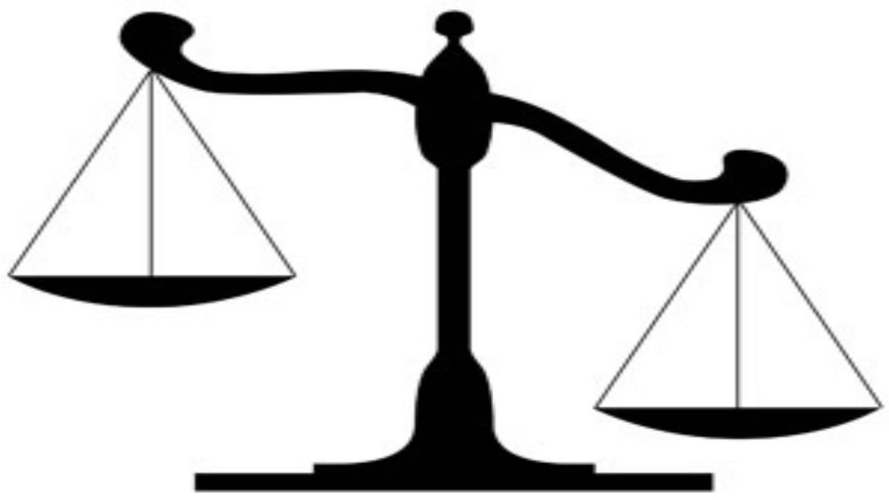 Scales clipart unequal. The of moral balance