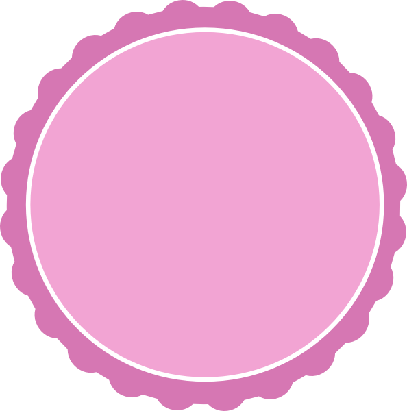 Scallop circle png. Large scalloped clipart