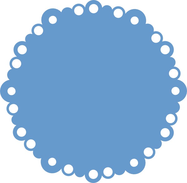 Scalloped circle png. Bubble svg pinterest silhouettes