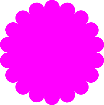 Scalloped circle png. Free svg download silhouette
