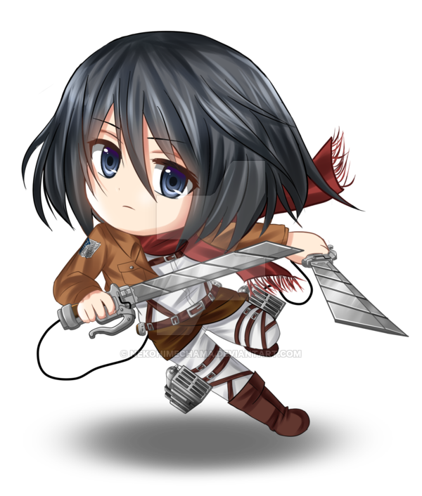 Scanned drawing ackerman. Chibi mikasa by rinco