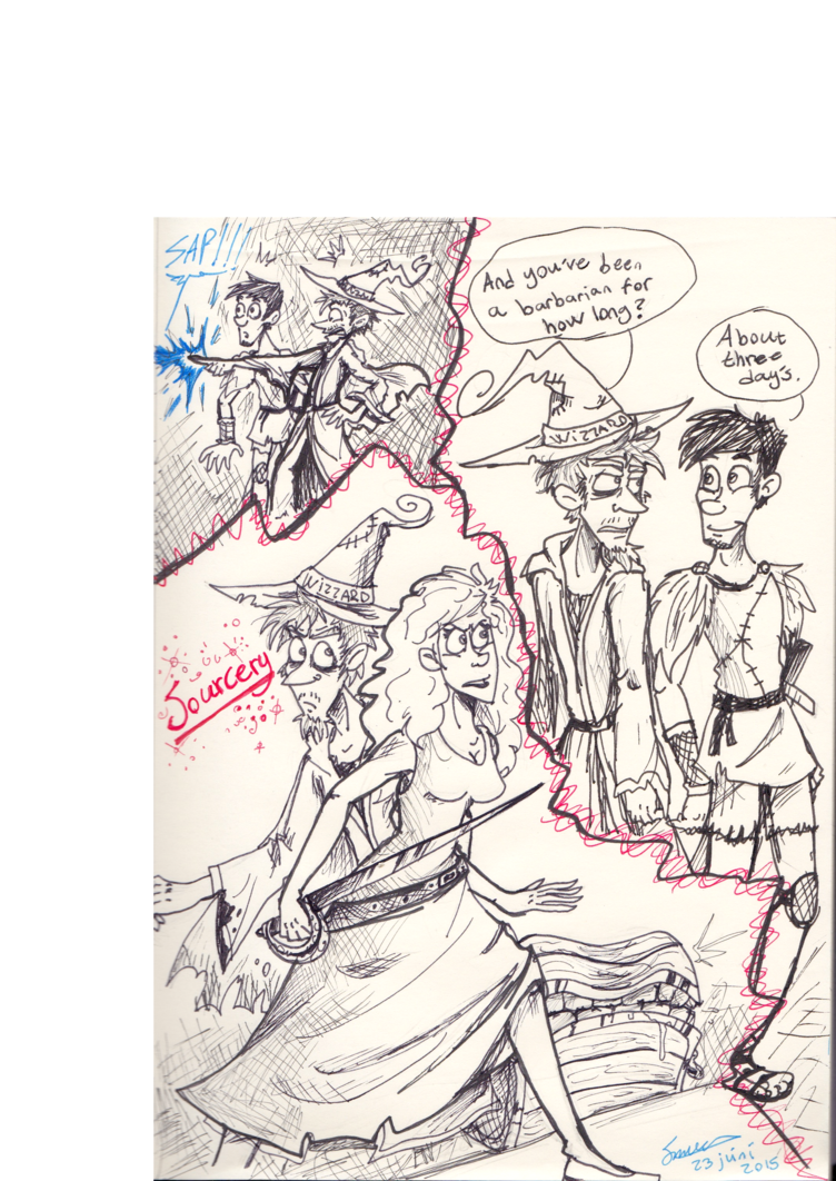 Scanned drawing traditional art. Sorcery sketches by icelandicghost
