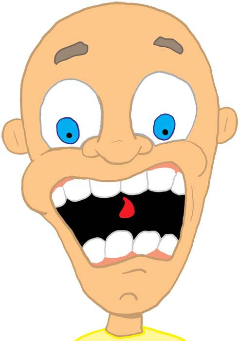 Scare clip different emotion. Fright scared clipart