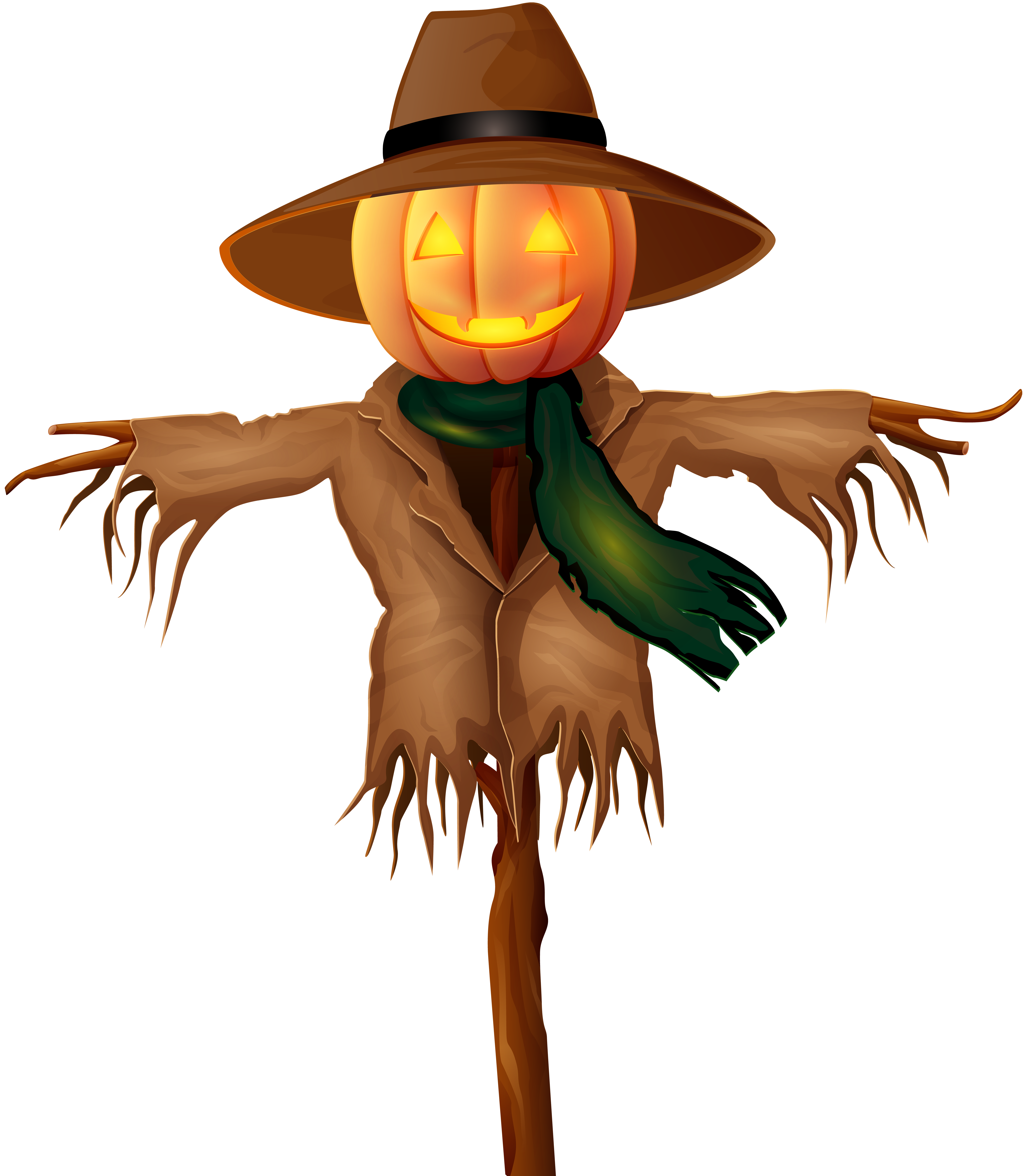 Scarecrow clipart png. Halloween gold clip art