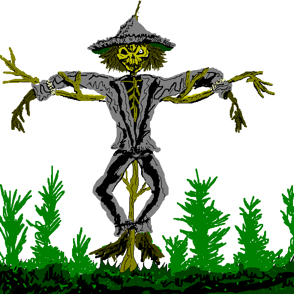 Scary clipart . Scarecrow transparent colored png free