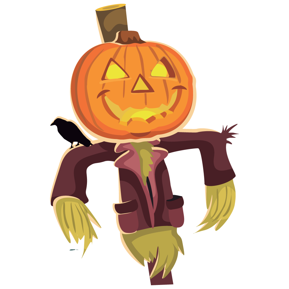 Scarecrow clipart scary. Clip art image clipartcow