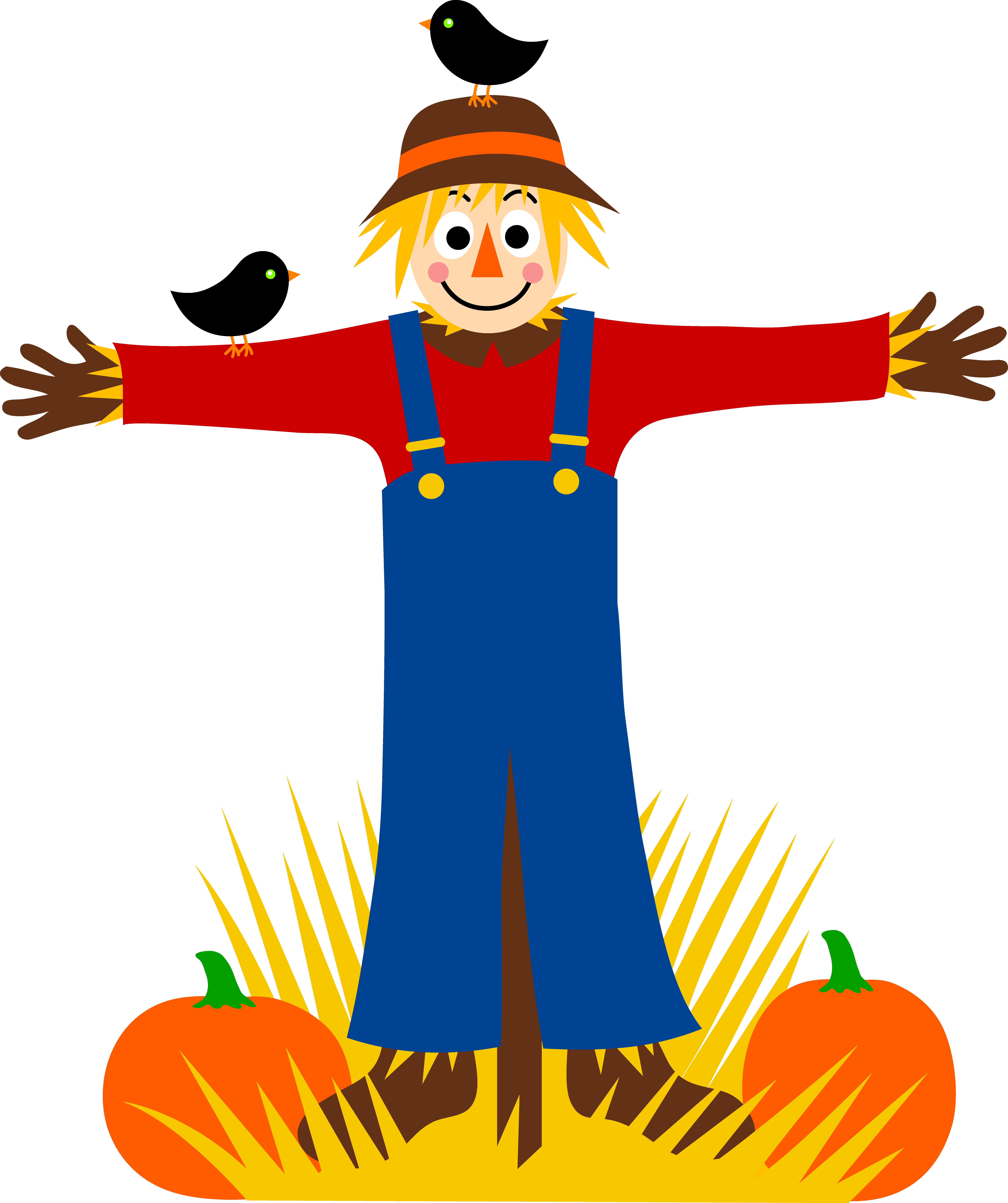 Cute scarecrow free clipart. Clip hay cartoon clipart royalty free